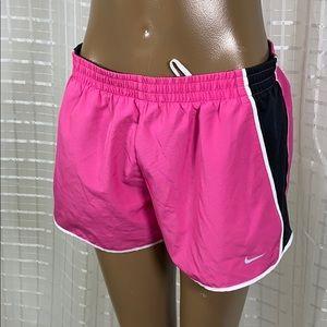Nike Dri-Fit Lined Pink & Black Shorts M